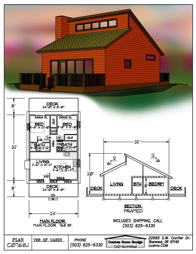 Tiny House Cabin Plans Http Www Cabinplans123 Com Details Php Plan C0768j Connex Shipping