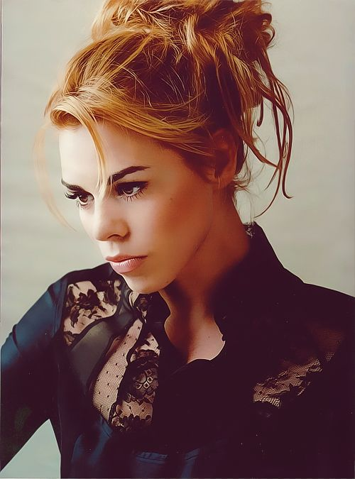 Billie Piper!!! Gorgeous! She is so pretty and she's not a stick!!!! I wish more people could see beauty in other body shapes. :)