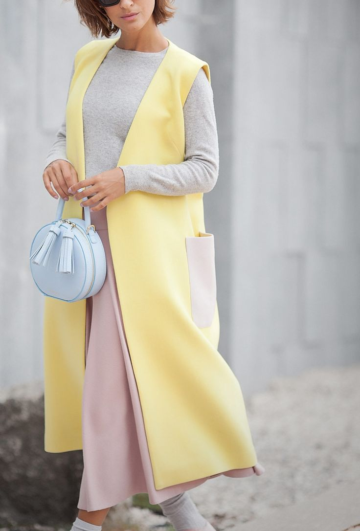 Yellow waistcoat outfit,