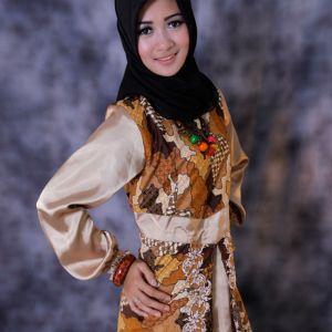 Gamis batik modis dan gaul