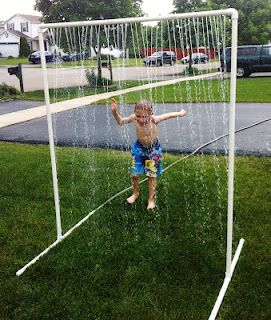 We made one too!  the PVC Pipe Kid sprinkler