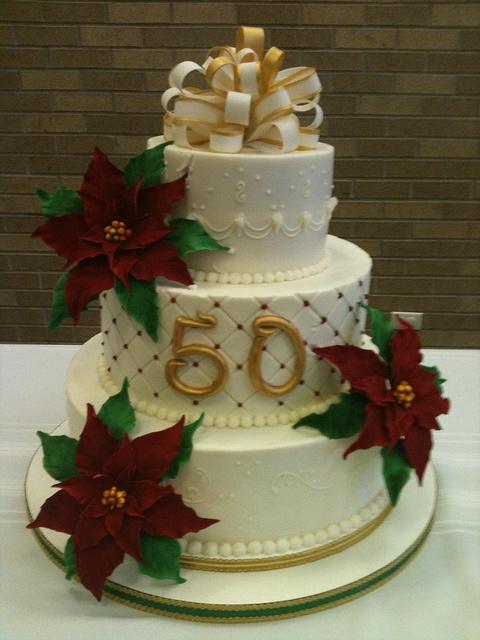 December 50th Anniversary Cake   My Cakes   Pinterest