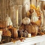 Fall is coming! Get ready to fabricate your fantel!: Mercury Glasses, Decor Ideas, Fall Decor, Mantel Decor, Fall Mantels, Pumpkin, Fall Mantles, Falldecor, Pottery Barns