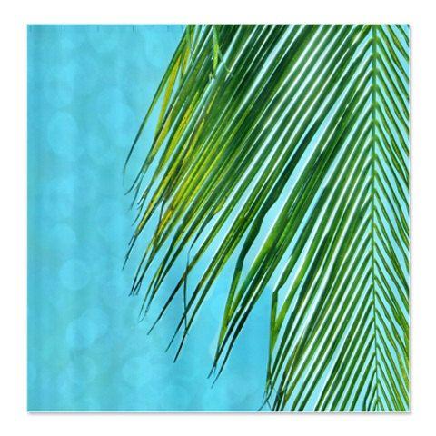 Palm Tree Decor, Tropical Bathroom, Palm Tree Beach Shower Curtain