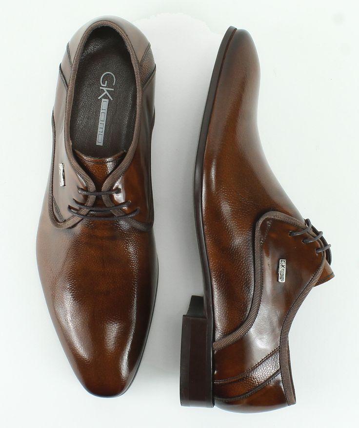 Ανδρικά παπούτσια GK Uomo Sander, από δερμα φλωρεντικ, 139€ #giannakazakou