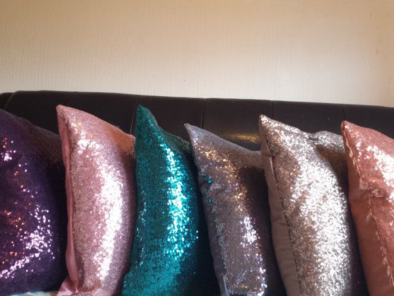 Sparkly Pillows//Shimmery pillows// Decorative by SidrealHome