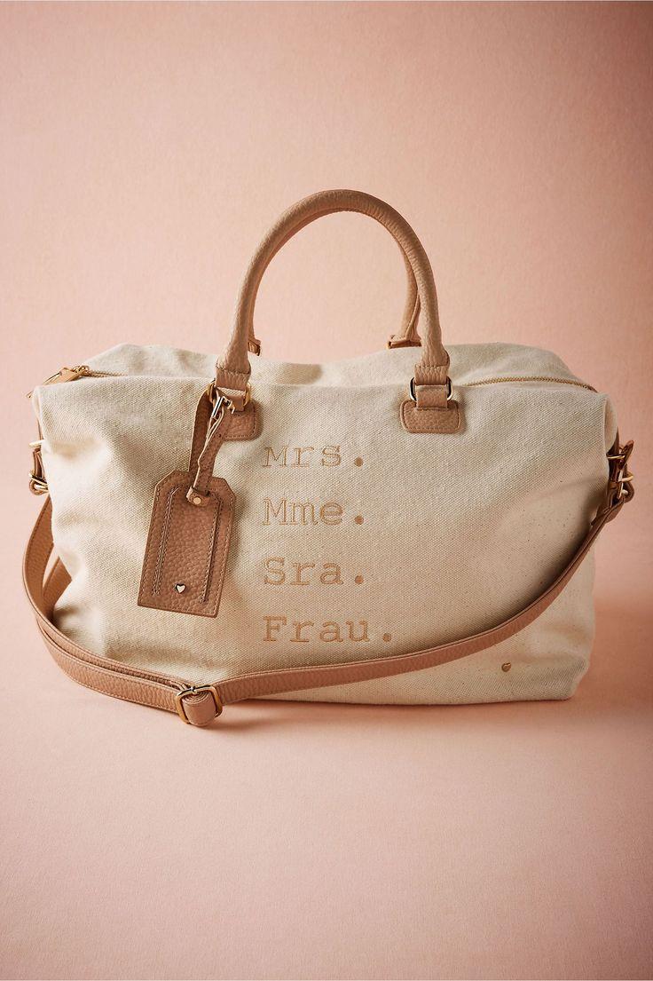 honeymoon weekender bag for the new Mrs. | Smitten Overnighter from BHLDN