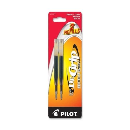pilot pen corporation of america refill for dr. grip center of gravity pen, med, 2/pk, blue