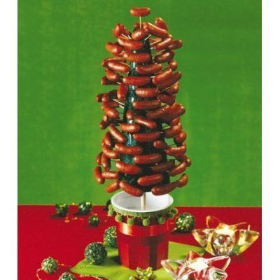 Weiner Tree. Let's wear our weiner crowns and have a wiener party! Who's bringing the aspic?