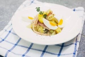Австрийский картофельный салат с беконом