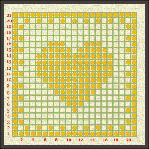 Robótki szydełkowe - wzory - Walentynkowe serce