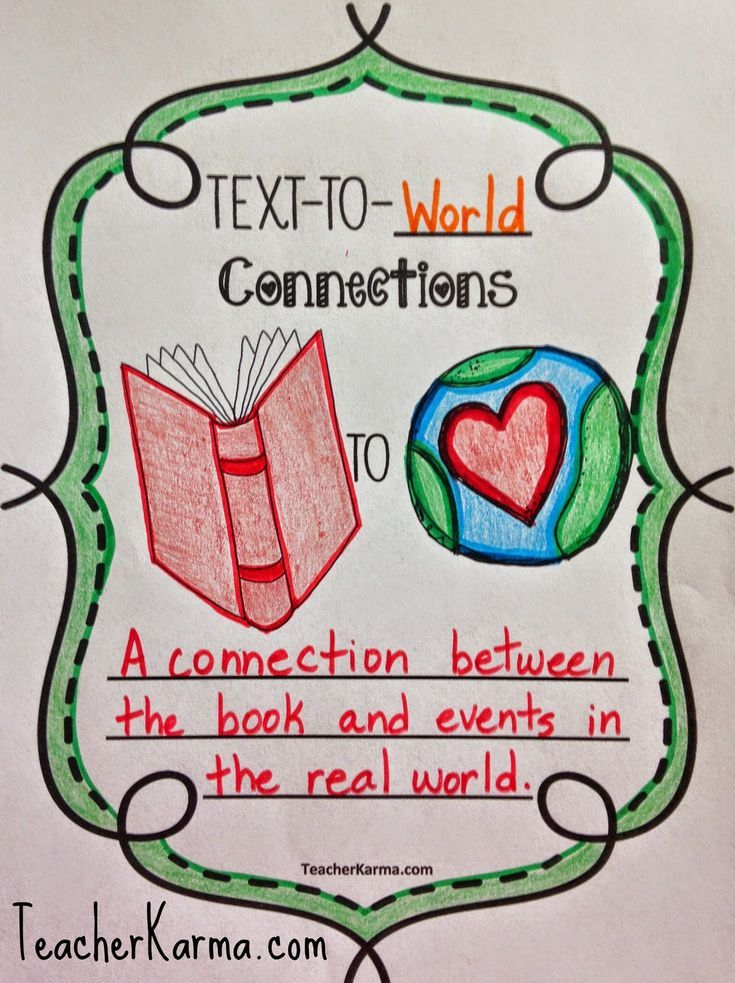 Text-to-world connections to improve reading comprehension. TeacherKarma.com