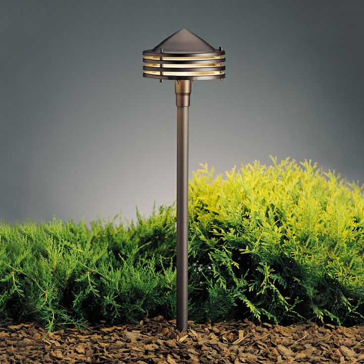 Kichler 15318AZT Textured Architectural Bronze 23 Inch Tall Outdoor Path  Light   KIC 15318AZT