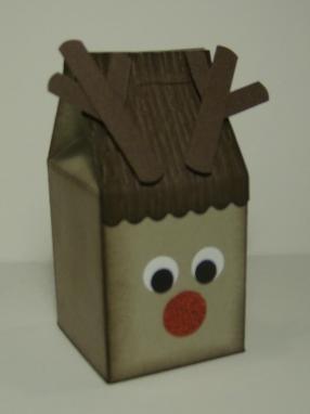 Rudolph Milk Carton