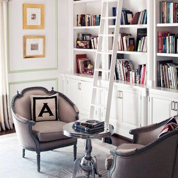 Would Love Built In Bookshelves Our Formal Living Room With A Ladder Like This