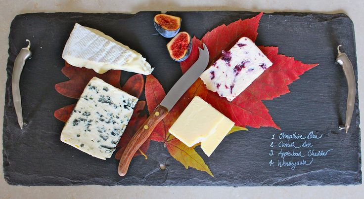 Cheeseboard from a slate roof tile: genius.