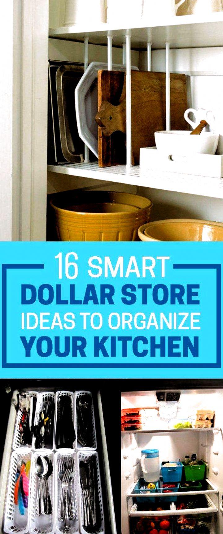 16 Smart Dollar Store Ideas To Declutter Your Kitchen ...