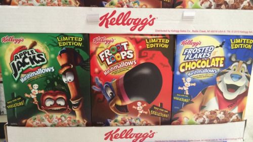 KELLOGG'S LIMITED EDITION CEREALS APPLE JACKS MARSHMALLOWS FROOT LOOPS MARSHMALLOWS FROSTED FLAKES CHOCOLATE MARSHMALLOWS