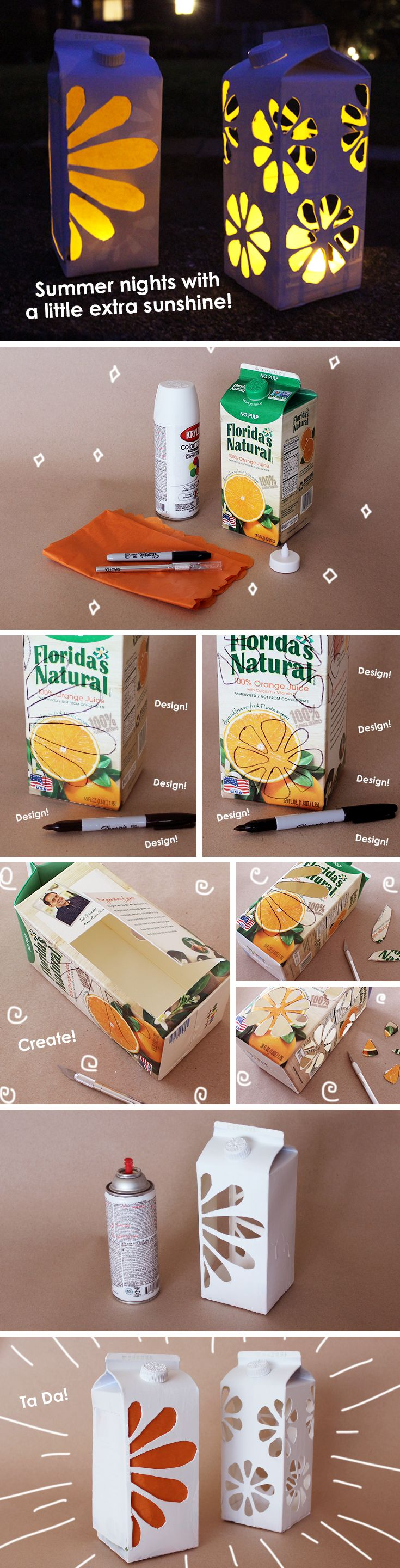 Brighten up those summer nights with this fun carton craft for both kids and adults to enjoy!