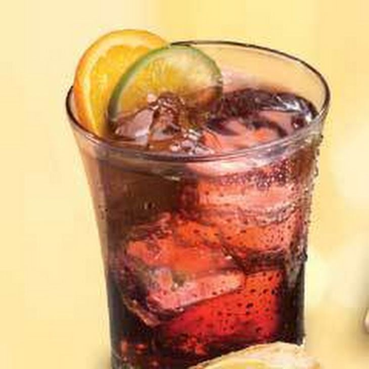 Sparkling Fruity Green Tea Recipe Beverages with water, lipton green tea bag, firmly packed light brown sugar, grape juice, orange, lemon, grate lime peel, club soda