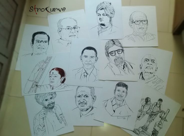 """Some of My Arts from My """"Stubble""""... #StroCurve"""