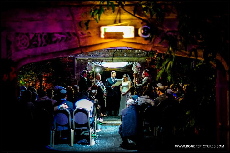 Jewish wedding ceremony at London's Kensington Roof Gardens