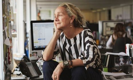 Lucinda Chambers in the Vogue offices.