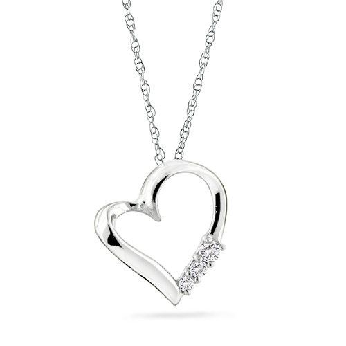 10k Gold 3-stone Diamond Heart Pendant with 18 http://www.amazon.com/3-stone-Diamond-Heart-Pendant-Chain/dp/B001QD010Y/?tag=utilis-20