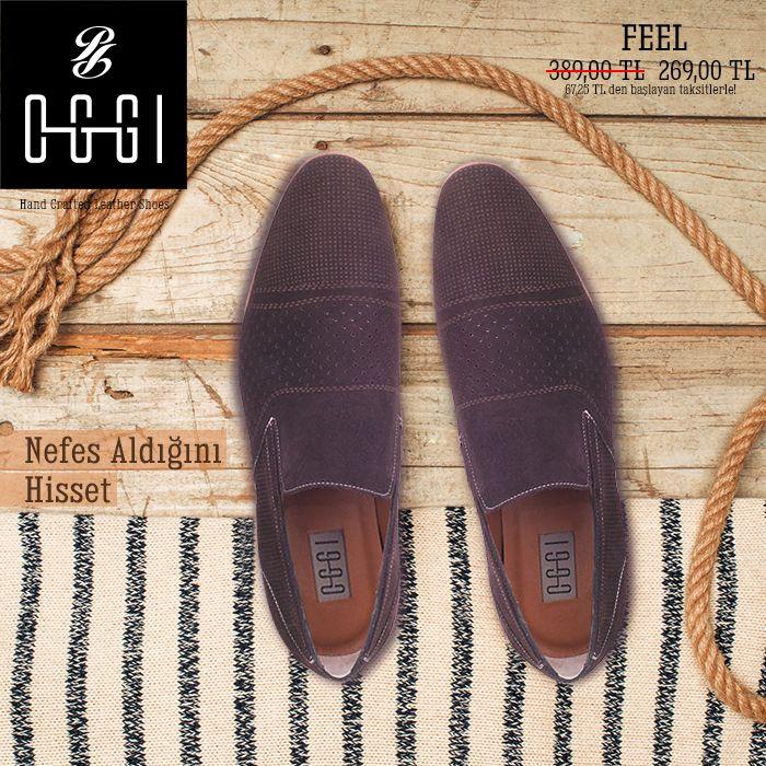 Sıcakta ayakların terlememesi demek OGGI FEEL demek.  OGGI FEEL'e ayağın sıcak havalarda nefes alması için lazer uygulaması gerçekleştirilmiştir. http://bit.ly/1E4Bxk5 #lazer #ayakkabı #oggi #shoes