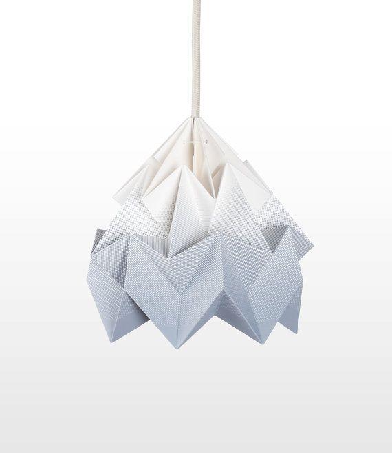 Moth origami lampshade gradient grey