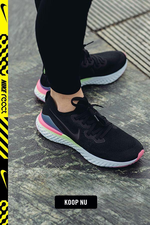 Epic React Flyknit 2 Hardloopschoen voor dames | Nike shoes ...