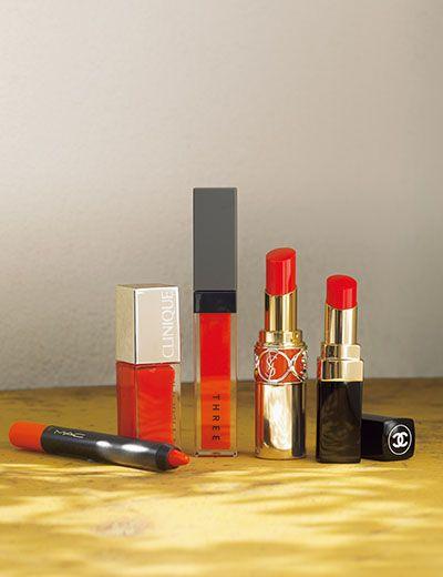 「ホットオレンジリップ」の上手な塗り方&厳選5ブランド #Chanel #MAC #THREE #CLINIQUE #YSL #リップ #ルージュ #コスメ #口紅 #cosmeteics #AneCan