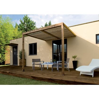 Rothley Lean-to Canopy with Polycarbonate Roof - 8 x 8ft