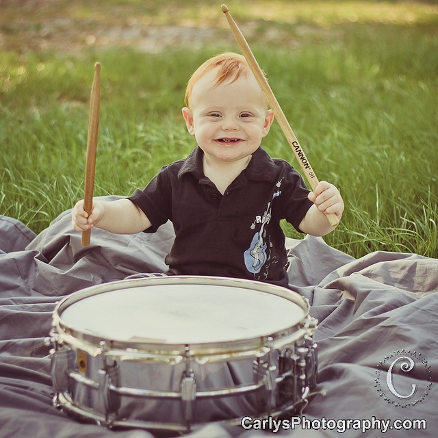 Kid Playing Drums Guns And Roses