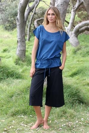Rainsong pleat trim cotton pants and Indianna top
