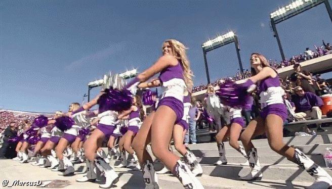 Best GIF From the TCU-Iowa State Game--the TCU Cheerleaders! [GIF] | FatManWriting