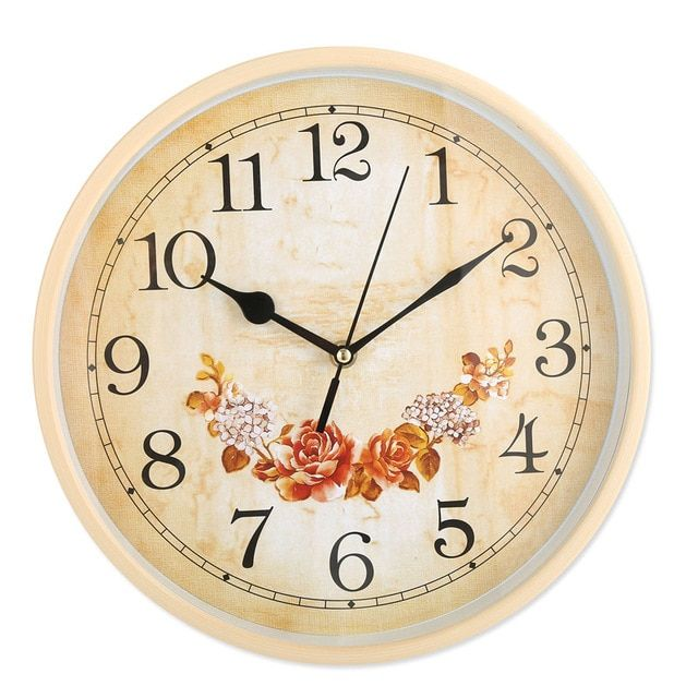 12 Inch Wall Clock Hanging Champagne Rose Clock Black Hands Using A Carbon Battery To Move The Clocks Home Hanging Decorati Wall Clock Wall Clock Hanging Clock