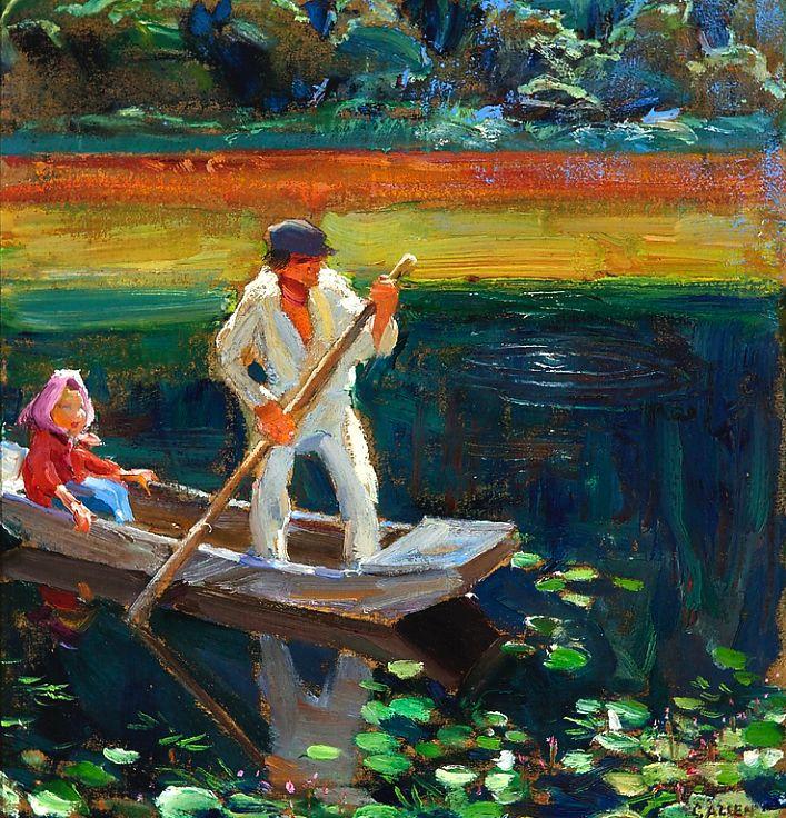 The Boat - Akseli Gallen-Kallela