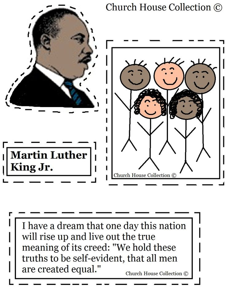 Church House Collection Blog: Martin Luther King Jr Craft For Kindergarten