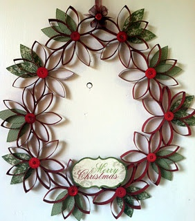 Christmas Craft Ideas- Toilet Paper Tube Wreath