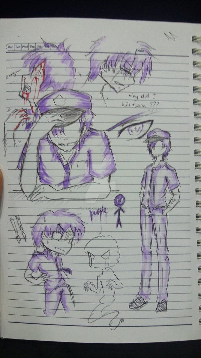 Phone guy x purple guy fanfic lemon - Sketch Taylor Purple Guy By Karinchan97 On Deviantart
