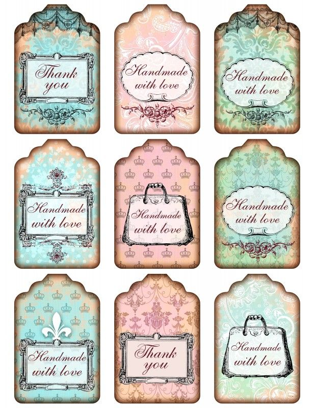 Sheet shabby handmade pink/bleu | ~Shabby chic | Nostalgie & Brocante