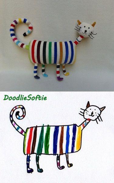 Marci's rainbow cat softie