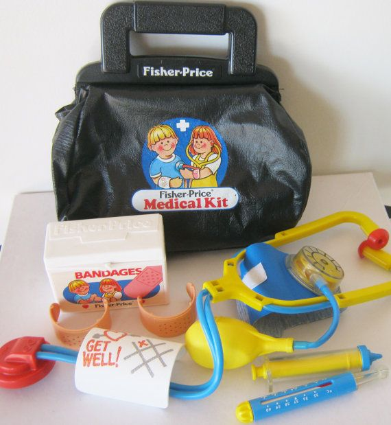 Hey, I found this really awesome Etsy listing at https://www.etsy.com/listing/183150046/vintage-1987-fisher-price-medical-kit