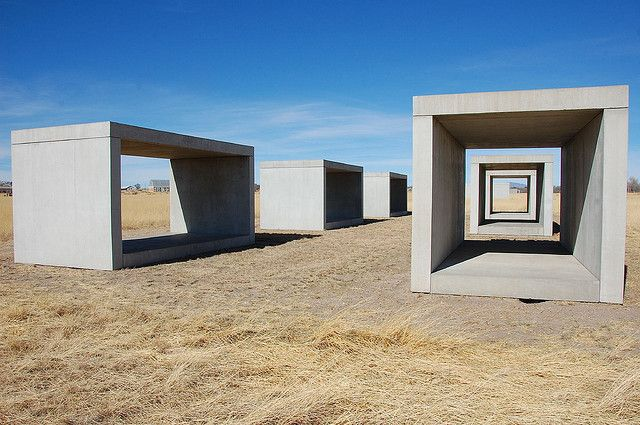 Concrete Boxes, Donald Judd, Chinati Foundation, Marfa, TX by Institute for Hamburger Studies, via Flickr