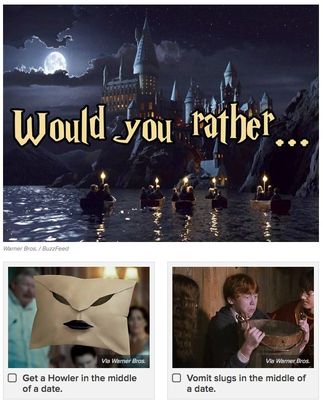 "<a href=""https://www.buzzfeed.com/guillermodelpalacio/the-12-all-time-most-difficult-questions-you-can-ask-a?utm_term=.ds7ZgRk65#.vdPEZ74ze"">The 12 Hardest Harry Potter ""Would You Rather"" Questions You'll Ever Face</a>"
