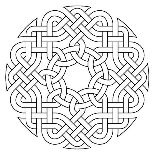 Celtic Knotwork Octagon1 by Peter Mulkers