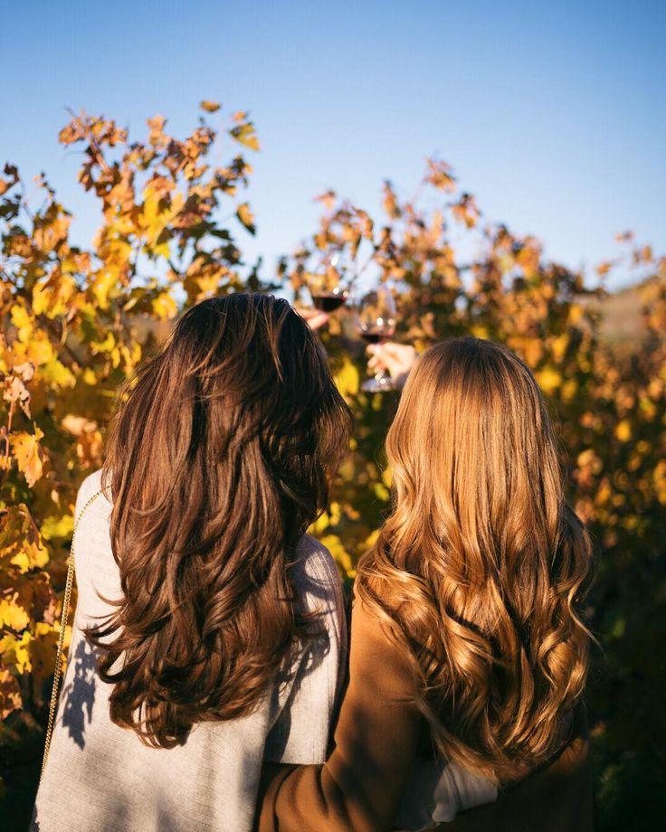 The brunette to my blonde  @rosielondoner #thickhair #somuchhair #napavalley #roseandjules #gmgtravels by juliahengel
