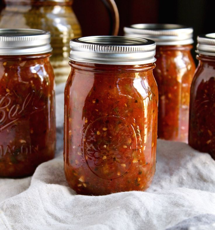 Fire Roasted Salsa Canning Recipe--obviously I'd water bath because NOT processing is just silly.