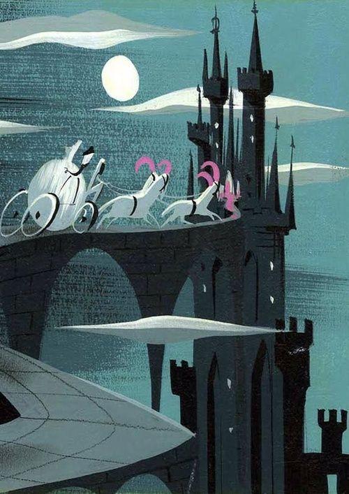 Mary Blair´s Cinderella. Essa ilustração era do meu livro de história da Cinderela.